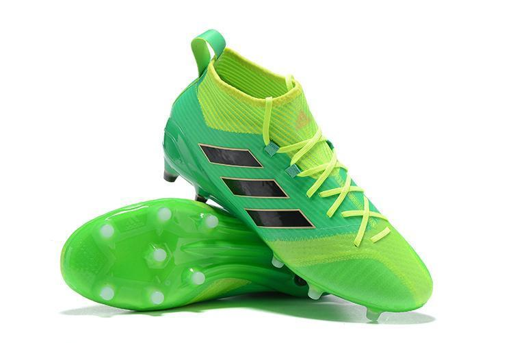 official photos 0ed28 cf55b Adidas ACE 17.1 Primeknit FG Soccer Cleats Solar Core Green Black