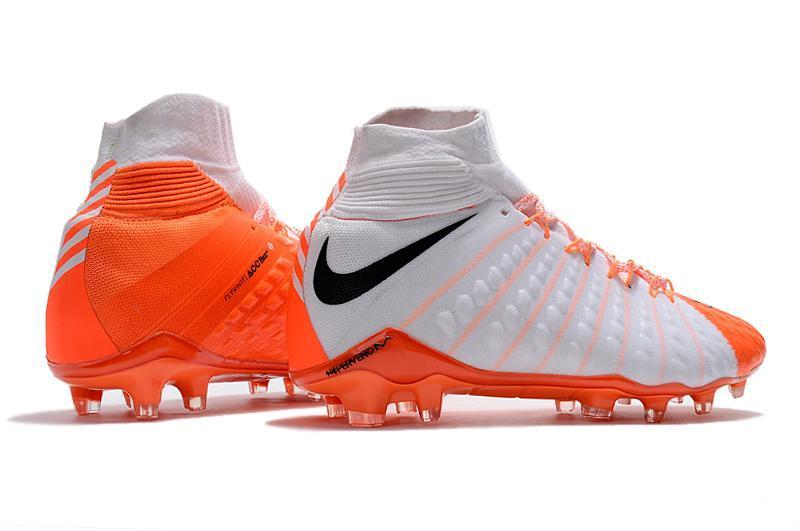 sneakers for cheap 8b8f0 3a63f Nike Hypervenom Phantom III DF FG Soccer Cleats White Orange ...