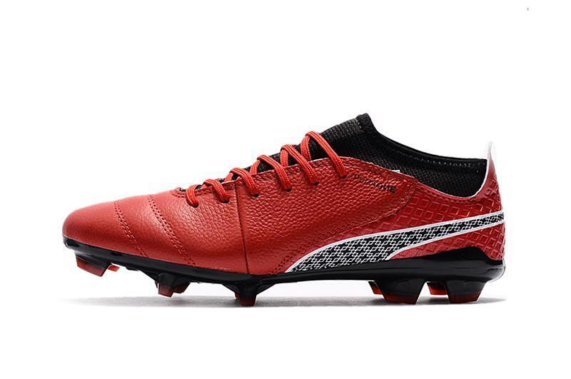 5882af432ce PUMA ONE 17.1 FG Soccer Cleats Total Red Black Silver