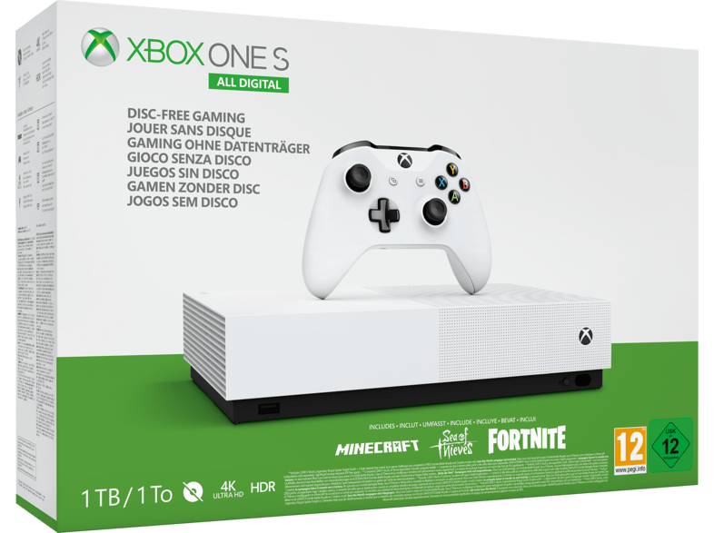 Xbox One S 1TB All-Digital Edition Bundle Spielkonsole - Weiss - veKtik