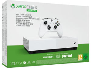 Xbox One S 1TB All-Digital Edition Bundle Spielkonsole - Weiss