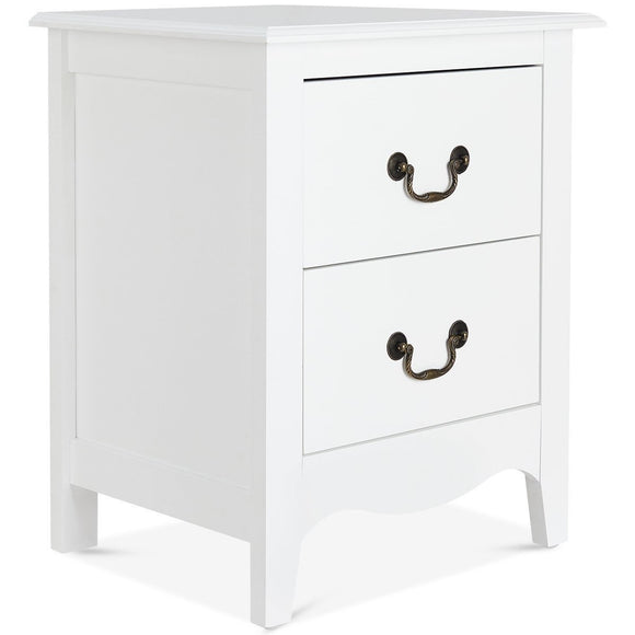 Modern Storage Bedroom End Beside Nightstand with 2 Drawers