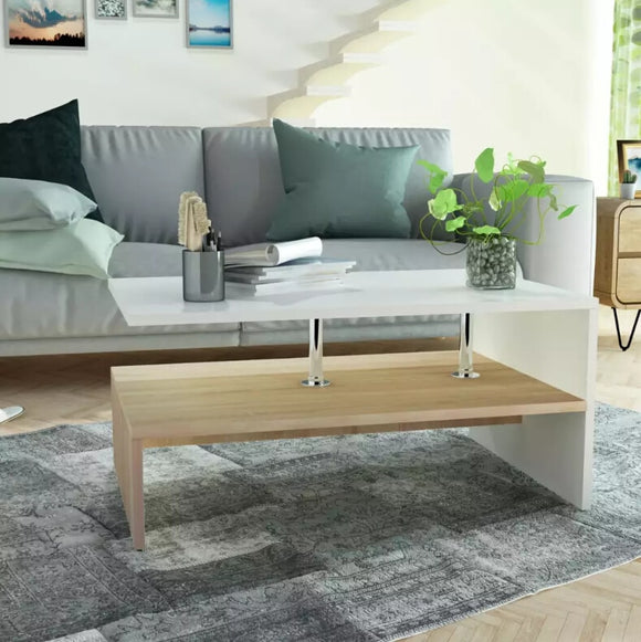 VidaXL Coffee Table Chipboard Modern Tea Table Living Room Tables High Quality Chipboard With Base Storage Shelf New