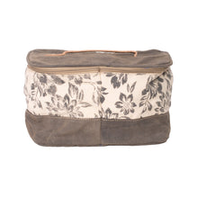 Load image into Gallery viewer, Flower Print Upcycled Canvas Washbag
