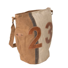 Load image into Gallery viewer, '23' Upcycled Canvas Bucket Shoulder Bag