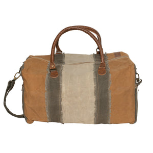 Multi Colour Upcycled Canvas Weekend Holdall
