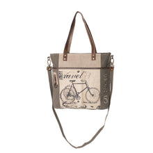 Load image into Gallery viewer, Bicycle Upcycled Canvas Shopper Tote