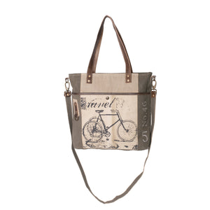 Bicycle Upcycled Canvas Shopper Tote
