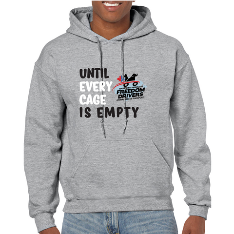 Until Every Cage is Empty (2 color) Hoodie