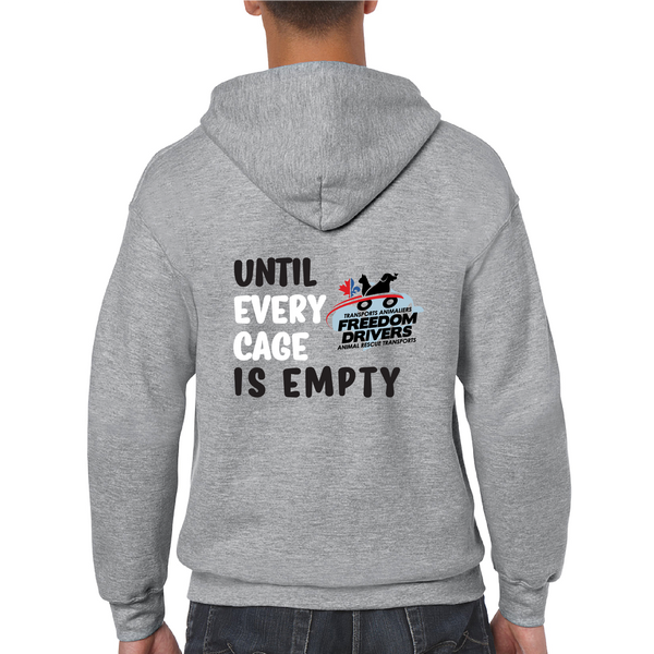 Until Every Cage is Empty (2 colors) Zip Up
