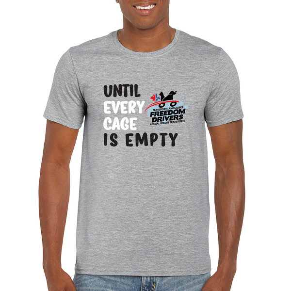 Until Every Cage is Empty (2 color) Men's T-Shirt