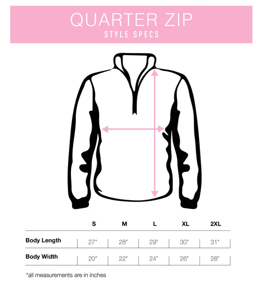 Running On Faith & Fizz Quarter Zip