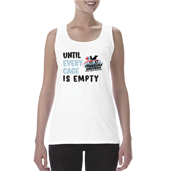 Until Every Cage is Empty (2 color) Ladies Tank