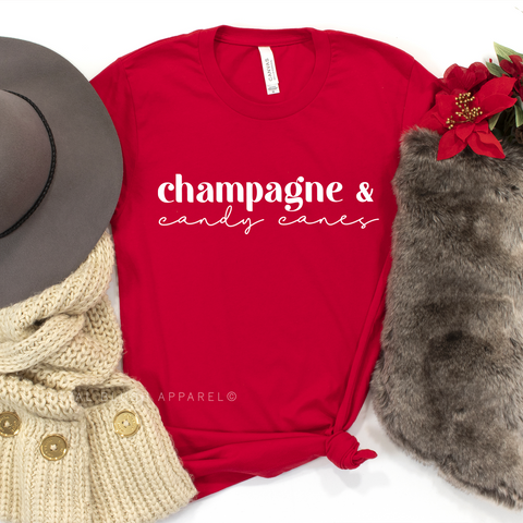Champagne & Candy Canes Crew/Crop Crew
