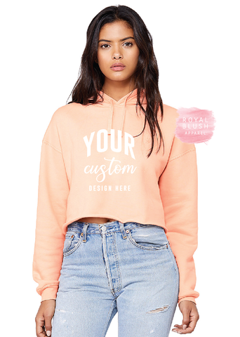 Custom Crop Fleece Hoodie