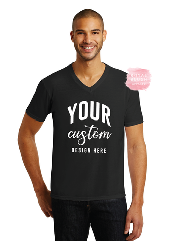Custom V-Neck Men's T-Shirt