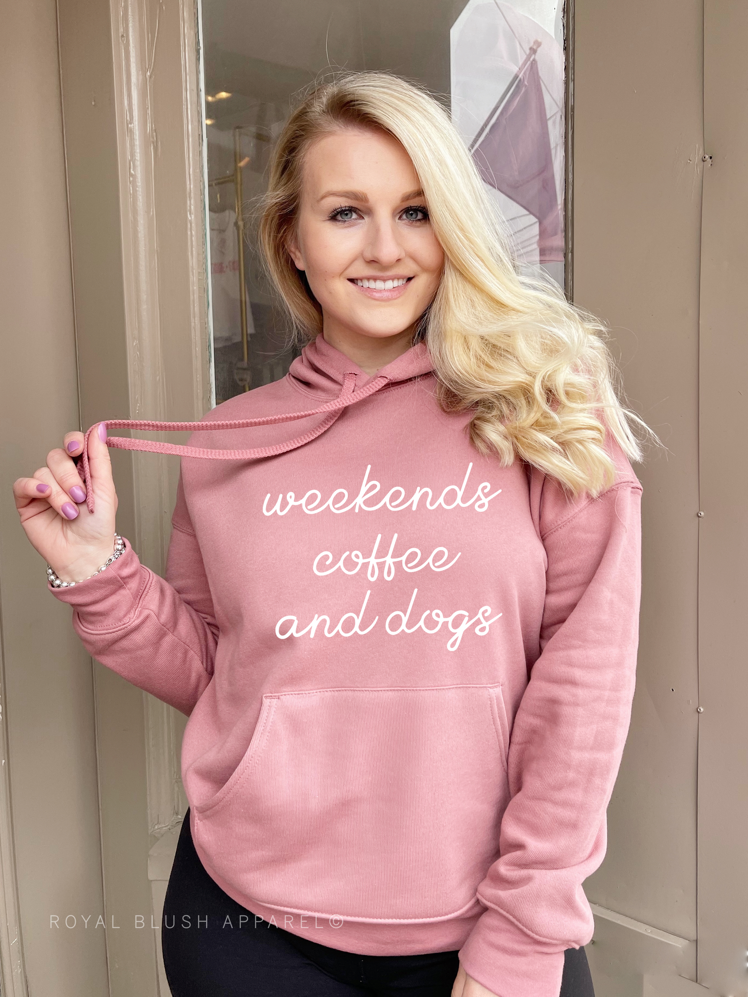 Weekends Coffee And Dogs Babe Hoodie