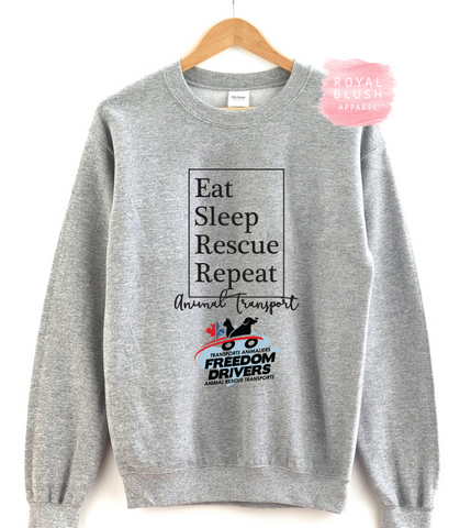 Eat Sleep Rescue Repeat Crewneck Sweater