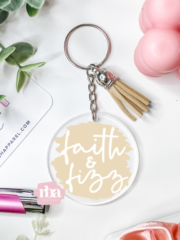 Faith & Fizz Keychain