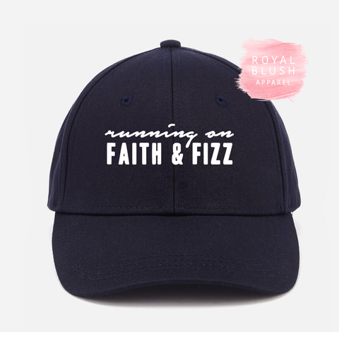 Running on Faith and Fizz Cap - RoyalBlushApparel
