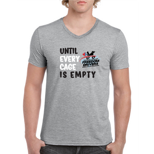 Until Every Cage is Empty (2 color) V-Neck