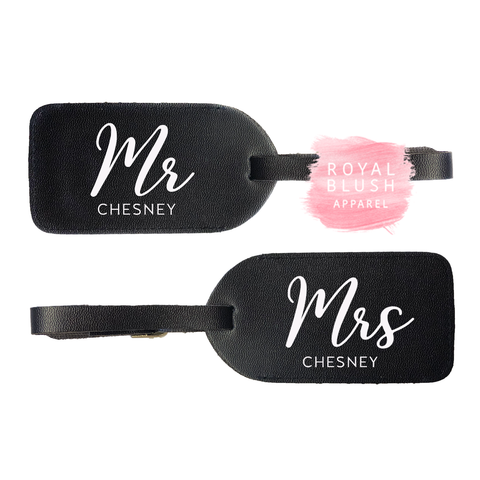 Custom Mr & Mrs Luggage Tags