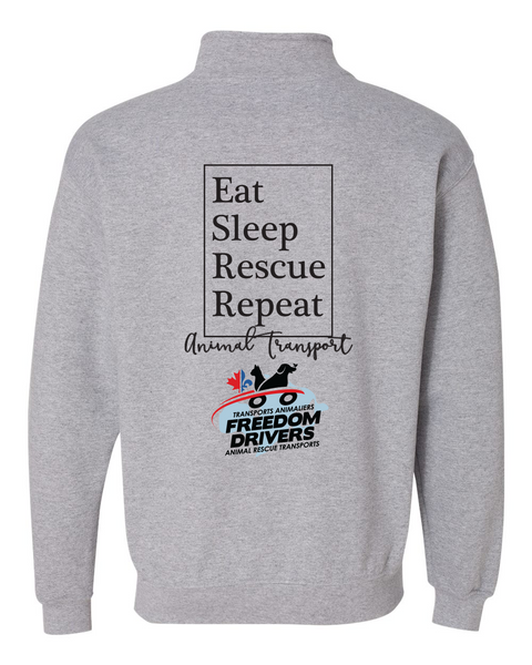 Eat Sleep Rescue Repeat Quarter Zip