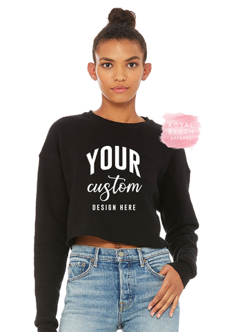 Custom Crop Crewneck Sweater