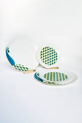 Peacock I Dinnerware - Set of 2