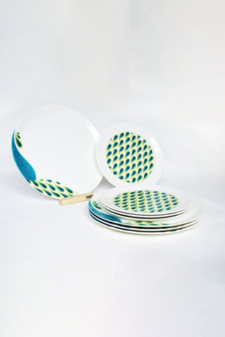 Peacock I Dinnerware - Set of 4