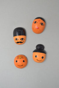 Faces of India Fridge Magnets