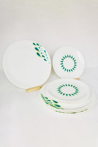 Peacock 2 Dinnerware - Set of 4