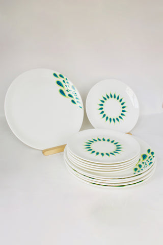 Peacock II Dinnerware - Set of 6