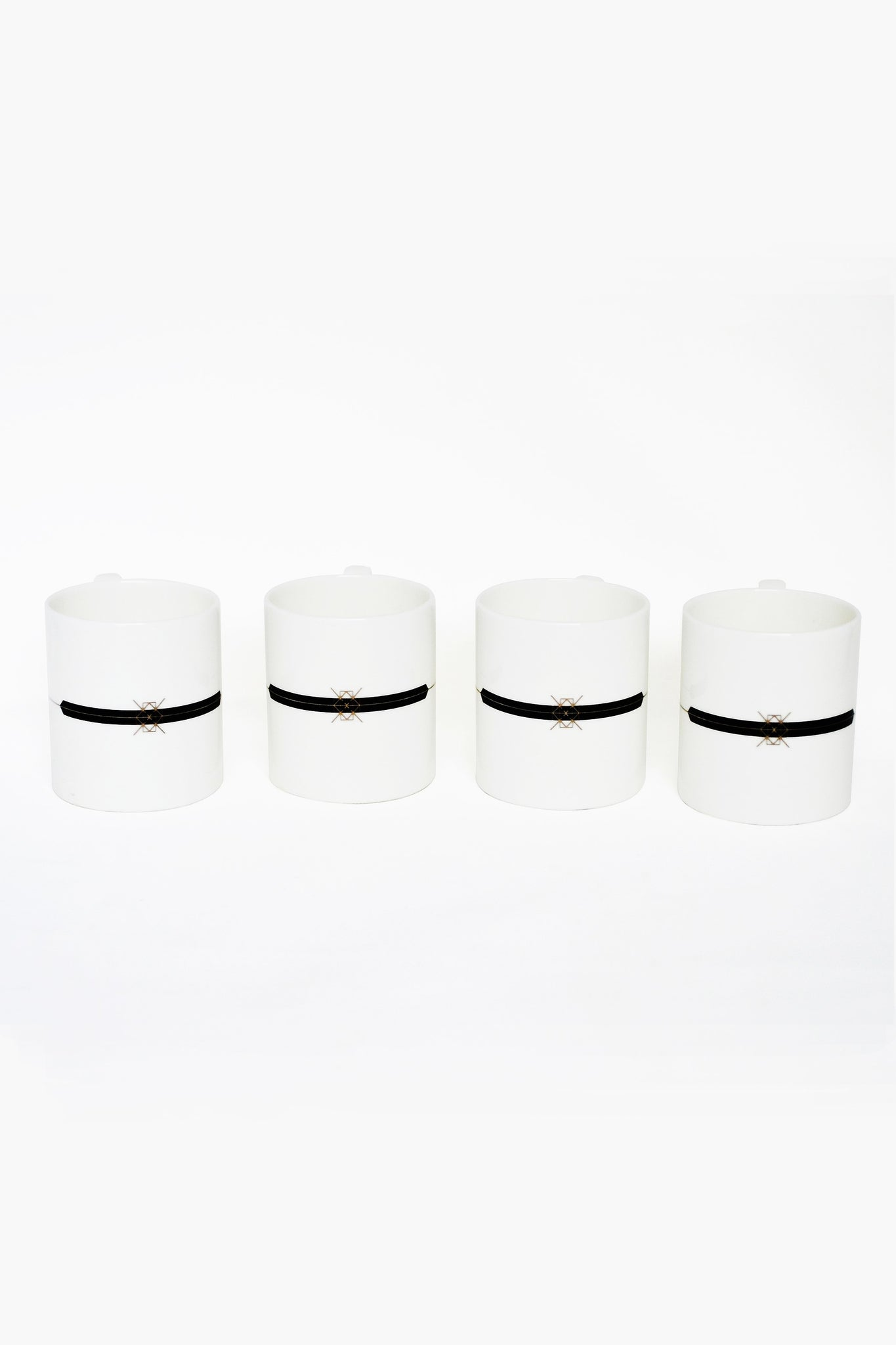 Bidri coffee Mugs Set of 4