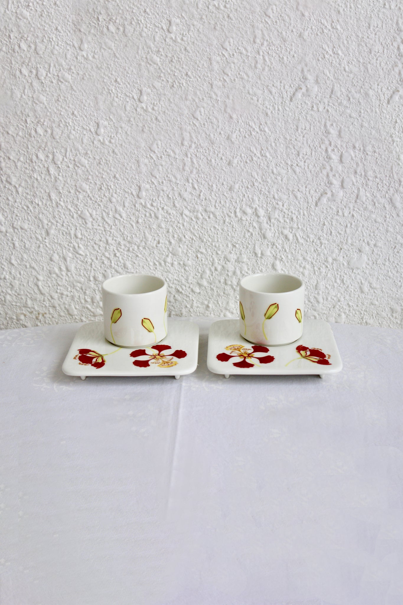 Gulmohar Cup & Saucer - Set of 2