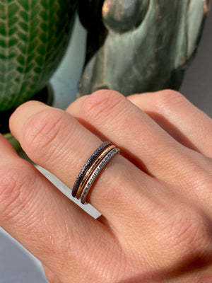 Limited presale of the Gold and Silver stacking Rings