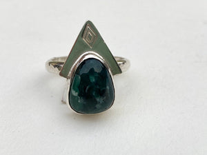 little blue bird turquoise sterling silver ring