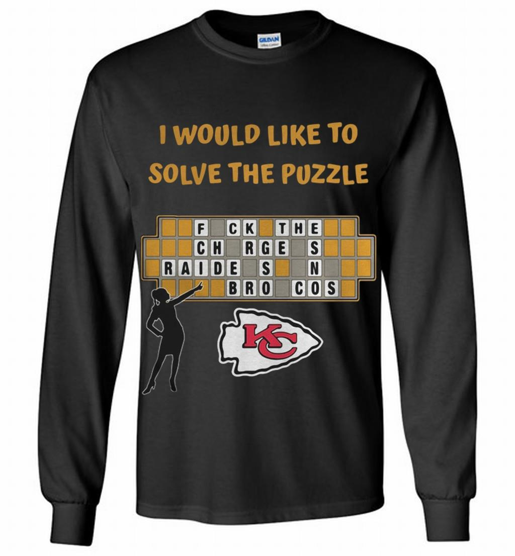 Kansas City Chiefs I Would Like To Solve The Puzzle Long Shirt