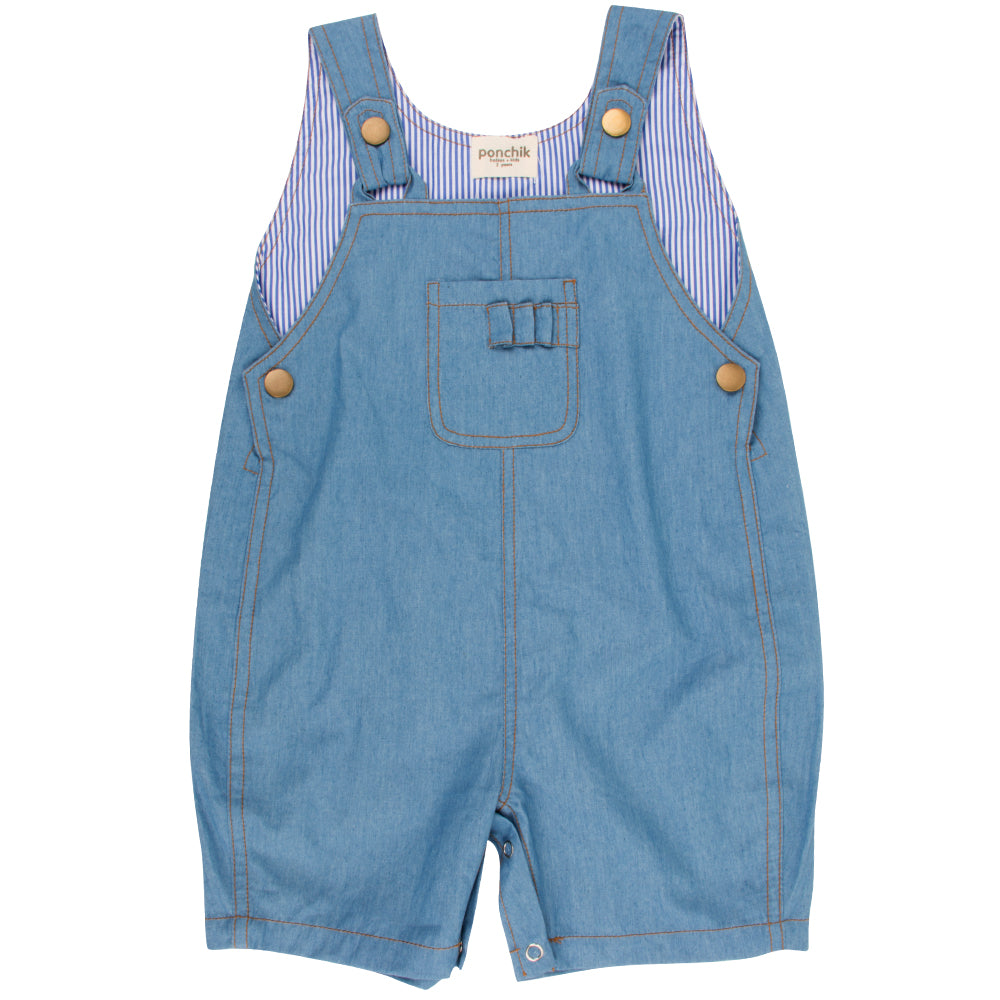 Pocket Overalls - Chambray