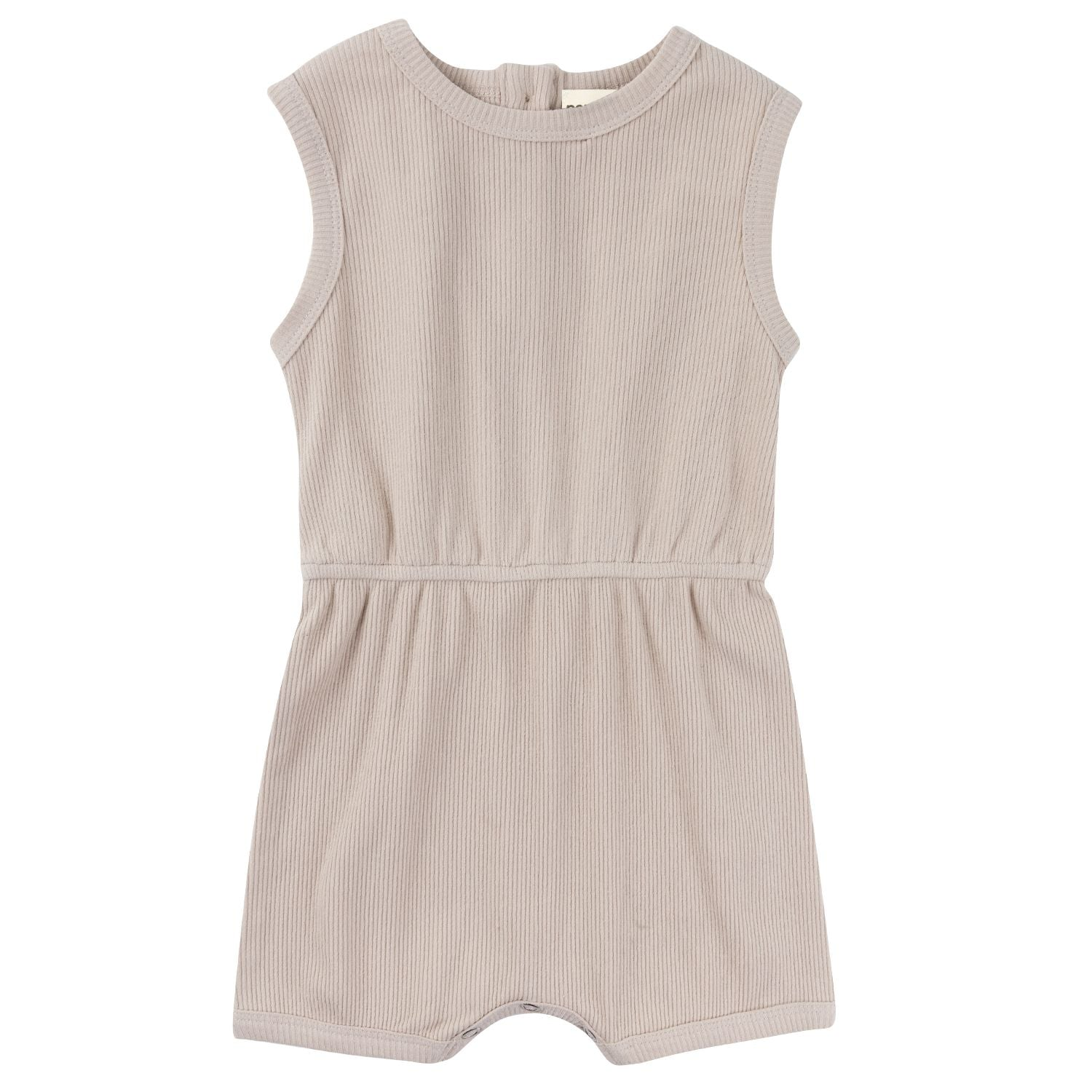 Ribbed Cotton Romper - Natural - (One Left)