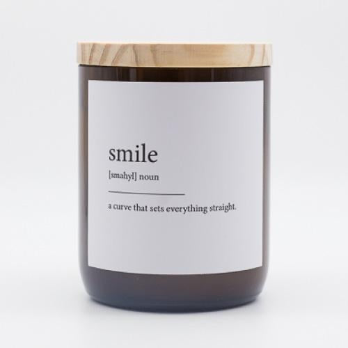 DICTIONARY MEANING CANDLE - SMILE