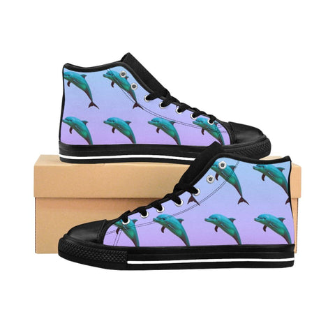 """Dolphin Aesthetic"" Women's High-top Sneakers"