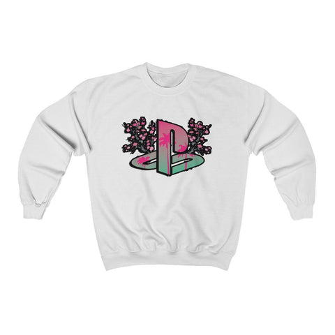 """Bloomstation V2"" Unisex Heavy Blend™ Crewneck Sweatshirt"