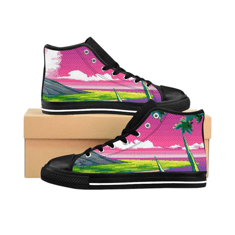 """8bit View"" Women's High-top Sneakers"