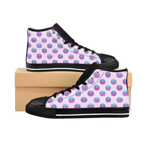 """Yikes Palm"" Women's High-top Sneakers"