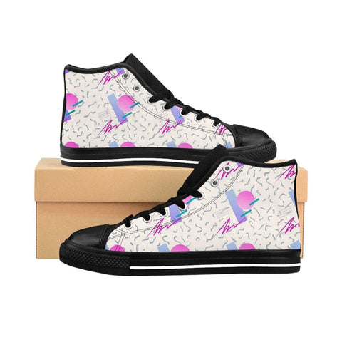 """90's Wave"" Women's High-top Sneakers"