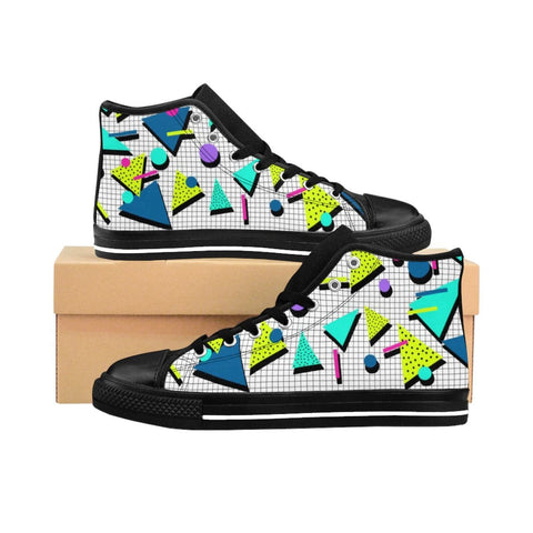 """Jazz Grid"" Women's High-top Sneakers"
