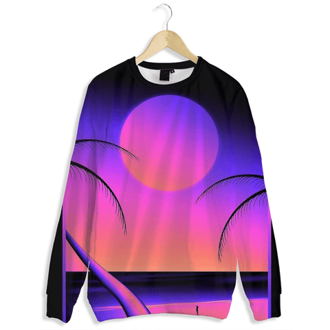 Seaside Sunset Aesthetic Crewneck