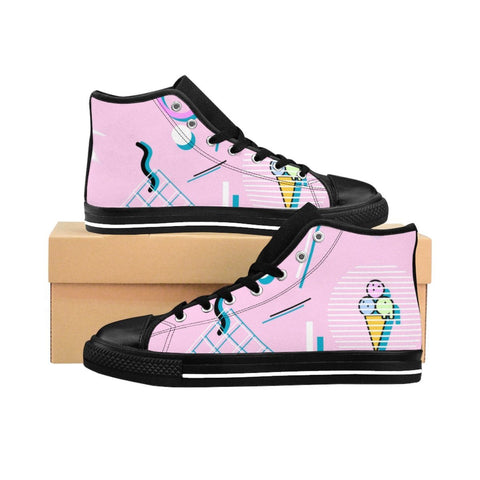 """Jazz Cream"" Women's High-top Sneakers"