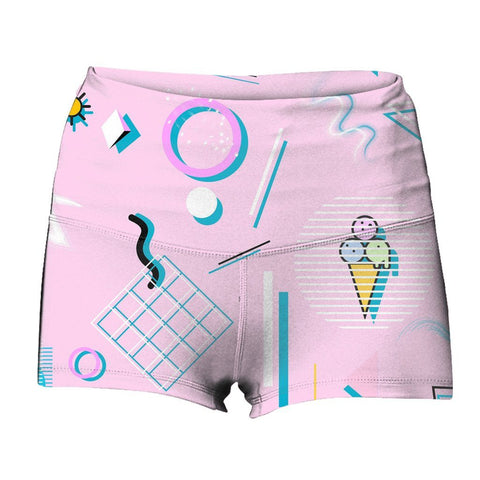 """Jazz Cream"" Yoga Shorts"